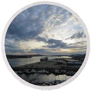 North Vancouver And Vancouver Round Beach Towel