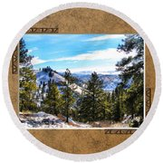Round Beach Towel featuring the photograph North View by Susan Kinney