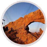 North Window Arch Round Beach Towel