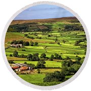 North York Moors Countryside Round Beach Towel