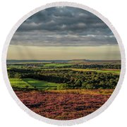 North Yorkshire Heather Round Beach Towel