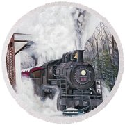 Northbound At 35 Below Round Beach Towel