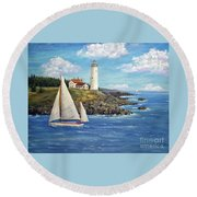 Northeast Coast Round Beach Towel