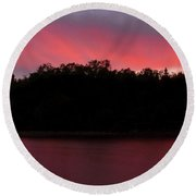 Northern Lakes Round Beach Towel