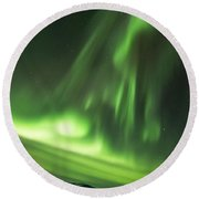 Round Beach Towel featuring the photograph Northern Lights 5 by Mariusz Czajkowski