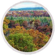 Northern Michigan Fall Round Beach Towel