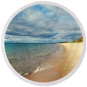 Round Beach Towel featuring the photograph Northern Shore by Michelle Calkins