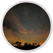 Round Beach Towel featuring the photograph Northern Sky At Night by Phil Abrams
