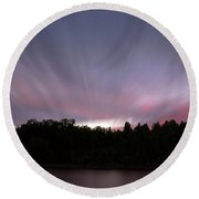 Northern Sky Round Beach Towel