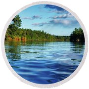 Northern Waters Round Beach Towel