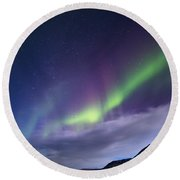 Northetn Lights 6 Round Beach Towel