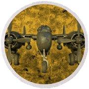 Northrop P-61 Black Widow Round Beach Towel by Michael Cleere