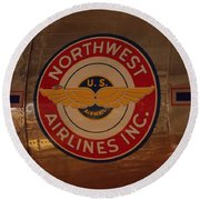 Northwest Airlines 1 Round Beach Towel