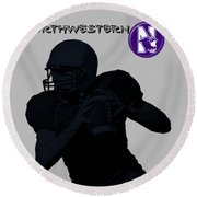 Northwestern Football Round Beach Towel