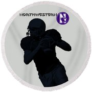 Northwestern Football Round Beach Towel by David Dehner