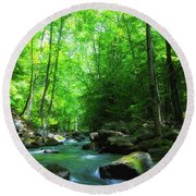 Northwood Brook Round Beach Towel