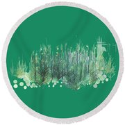 Northwoods Round Beach Towel