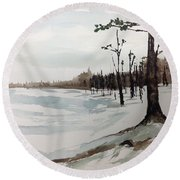 Norwegian Pine Round Beach Towel