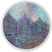 Norwich Cathedral Close Round Beach Towel