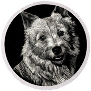 Norwich Terrier Round Beach Towel