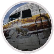 Nose Art Round Beach Towel by Michael Nowotny