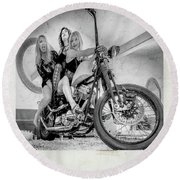 Round Beach Towel featuring the photograph Nostalgia- by JD Mims