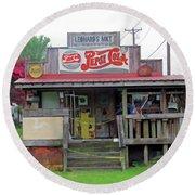 Nostalgic Country Store Round Beach Towel