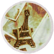 Nostalgic Mementos Of A Paris Trip Round Beach Towel