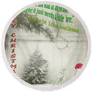 Not A Bad Little Tree Round Beach Towel