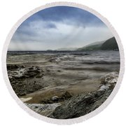 Round Beach Towel featuring the photograph Not A Better Day To Go Fishing by Dmytro Korol
