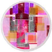 Round Beach Towel featuring the digital art Not All In Heaven I Have Hated by Danica Radman