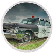 Round Beach Towel featuring the photograph Not Chasin' Anyone by Guy Whiteley