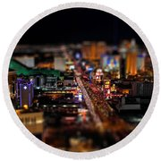Not Everything Stays In Vegas - Tiltshift Round Beach Towel