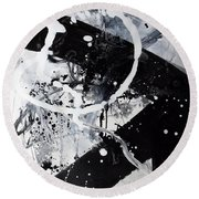 Not Just Black And White2 Round Beach Towel
