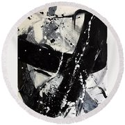 Not Just Black And White3 Round Beach Towel