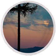 Round Beach Towel featuring the photograph Not Quite Clearcut by Albert Seger