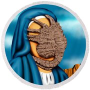 Not So Immaculate Conception Round Beach Towel