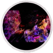 Round Beach Towel featuring the digital art Nothing Compares 2 U by Jason Hanson