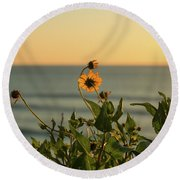 Round Beach Towel featuring the photograph Nothing Gold Can Stay by Ana V Ramirez