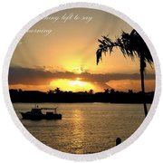 Nothing Left To Say Round Beach Towel