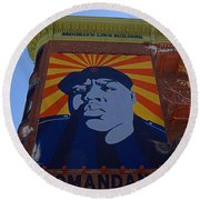 Notorious B.i.g. I I Round Beach Towel by  Newwwman