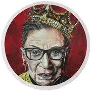 Notorious Rbg Round Beach Towel