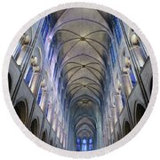 Notre Dame De Paris - A View From The Floor Round Beach Towel