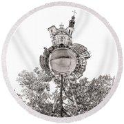 Notre-dame De Quebec Basilica-cathedral - Tiny Planet Round Beach Towel