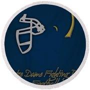 Notre Dame Fighting Irish Helmet Round Beach Towel
