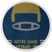 Notre Dame Fighting Irish Vintage Football Art Round Beach Towel
