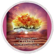 November Birthstone Citrine Round Beach Towel