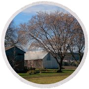 Round Beach Towel featuring the photograph November by Elfriede Fulda