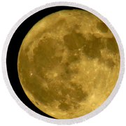 November Full Moon Round Beach Towel