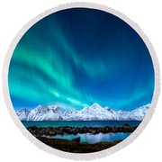 November Night Round Beach Towel